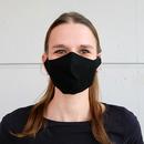 Stoffmaske Modell: James, unbedruckt schwarz