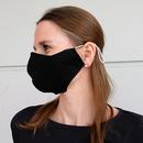 Stoffmaske Modell: James, bedruckt schwarz