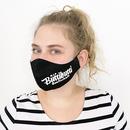 Masque en tissu pour adolescents (10-16 ans) en coton pouvant être utilisé plusieurs fois - modèle: Youngster noir, imprimé