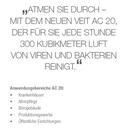 AC 20 Luftreiniger Viren und Bakterien Chemiefrie Bekämpfen   - Made in Germany -