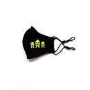 Stoffmaske für Kinder aus Baumwolle mehrfach verwendbar - Modell: Kiddy, schwarz bedruckt