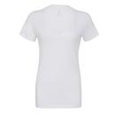 Camiseta con cuello en v profundo de jersey para mujer