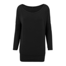 Camiseta de manga larga de viscosa para mujer