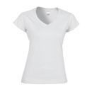 Camiseta con cuello en V para mujer Softstyle®
