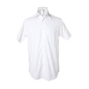 Chemise à manches courtes pour hommes, coupe classique, sans repassage