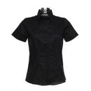 Camisa Oxford de manga corta con corte a medida para mujer