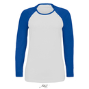 Camiseta de manga larga lechosa para mujer