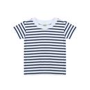 T-shirt manches courtes à rayures courtes