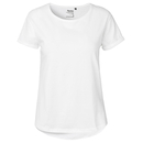 Camiseta de manga enrollada para mujer
