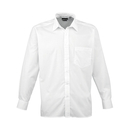 Camisa de manga larga de popelina para hombre