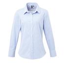 Camicia da donna in cotone a maniche lunghe con microcheck (Gingham)