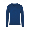 Suéter de punto con cuello en V para hombre