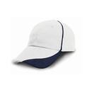 Gorra de algodón cepillado pesado con visera festoneada y ribete en contraste