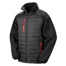 Black Compass Padded Soft Shell Jacket