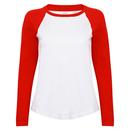 T-shirt de baseball à manches longues pour femmes