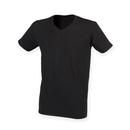 Camiseta con cuello en V elástica para hombre Feel Good
