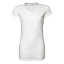 T-shirt elasticizzata da donna, lunghezza extra