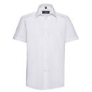 Camisa de popelina de polialgodón de manga corta para hombre