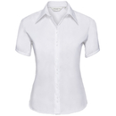 Camicia da donna non stirata su misura a maniche corte