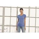 Camiseta de cuello redondo Triblend para mujer