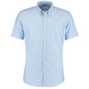 Camicia Oxford da lavoro slim fit a maniche corte