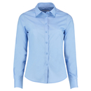 Camisa de popelina de corte a medida para mujer de manga larga