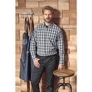 Men`s Mulligan Check Cotton Long Sleeve Shirt