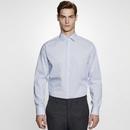 Camicia da uomo slim fit a quadri / righe manica lunga