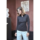 Womens Luxury Stretch Long Sleeve Polo
