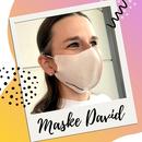 PREMIUM Gesichtsmaske aus Filtervlies mehrfach verwendbar - Modell: David - 2 Stk.
