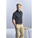 Camisa clásica de popelina de algodón puro de manga corta para hombre