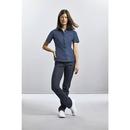 Camisa elástica Ultimate entallada de manga corta para mujer