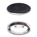 100 ovale Buttons mit Sicherheitsnadel 45mm x 69mm