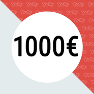 YOW! Shopping voucher worth 1000 EUR