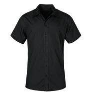 Hombres Poplin camisa manga corta manga corta