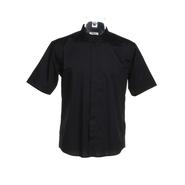 Chemise de bar manches courtes à col mandarin pour homme