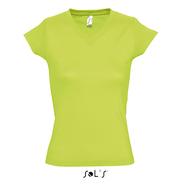 Ladies V neck T-shirt moon