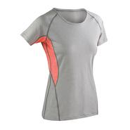 Fitness Womens Tech Panel Marl T-Shirt