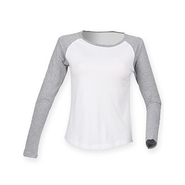 Ladies Long Sleeved Baseball T