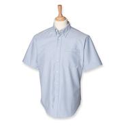Hombres `s Classic camisa de manga corta Oxford Shirt