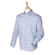 Hombres de manga larga Pinpoint Oxford Shirt