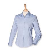 Señoras de manga larga Pinpoint Camisa Oxford
