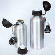 Aluminum drinking bottle silver 400 ml