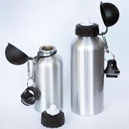 Aluminium Trinkflasche Silber 400 ml