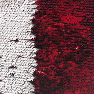 Sequin patch red / white for sublimation and application on textiles