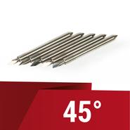 5 lames angle 45° pour plotter Secabo