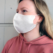 Face mask made of filter fleece reusable - model: David