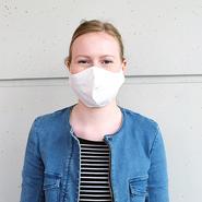 Stoffmaske für Jugendliche (10 - 16 Jahre) aus Baumwolle mehrfach verwendbar - Modell: Youngster weiß, unbedruckt