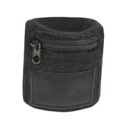 Sweat wristband with zipper