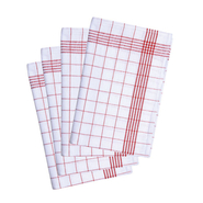 Tea towel chequered (10-pack)